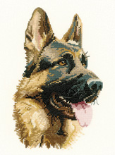 Cross stitch German Shepherd