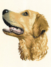 Cross stitch Golden Retriever