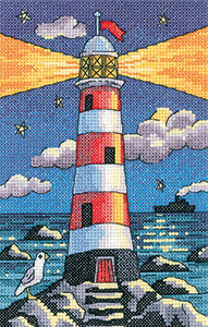 cross stitch lighthouse