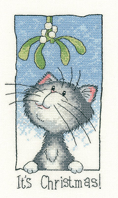 Christmas cat cross stitch
