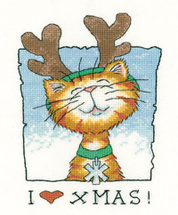 I Love Christmas cross stitch