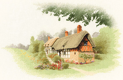Anne Hathaway's Cottage counted cross stitch