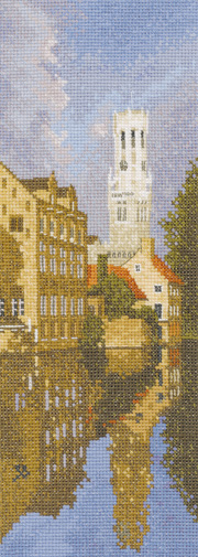 Bruges in counted cross stitch