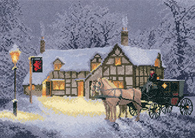 Cross stitch Christmas Inn by John Clayton