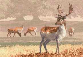 Cross stitch Deer Park by John Clayton