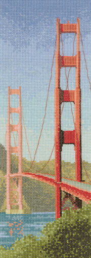 Cross stitch Golden Gate Bridge