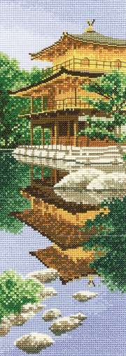 Cross stitch Golden Pavilion, Japan