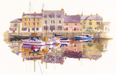 Harbour Reflections counted cross stitch