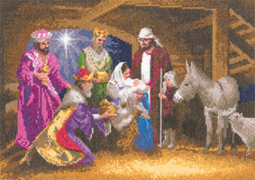 Cross stitch Nativity by John Clayton