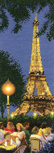 A Paris scene in cross stitch