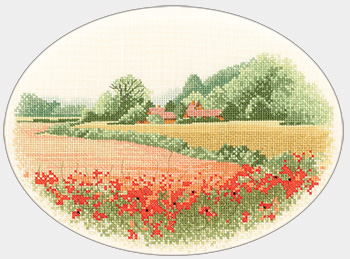 Poppy Farm counted cross stitch