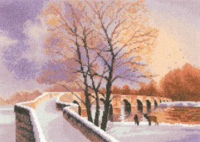 Packhorse Bridge cross stitch by John Clayton