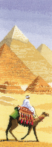 Counted cross stitch Pyramids