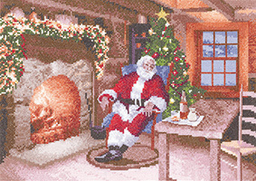 Cross stitch Santa by John Clayton