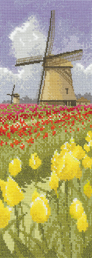 Counted cross stitch Tulip Fields