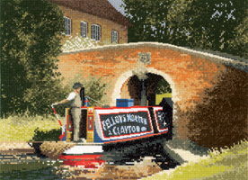 Under The Bridge - Canal cross stitch