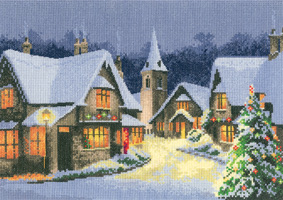 Cross stitch Christmas Village by John Clayton