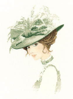 Charlotte, an Elegant lady in counted cross stitch by John Clayton