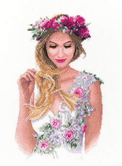 Emily, an elegant lady in counted cross stitch by John Clayton