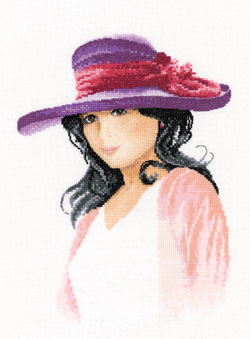 Jessica, an Elegant lady in counted cross stitch by John Clayton