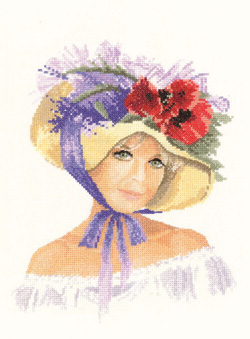Megan, an Elegant lady in counted cross stitch by John Clayton