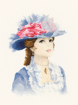 Maria, an Elegant lady in counted cross stitch by John Clayton