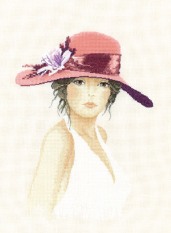 Sally, an Elegant lady in counted cross stitch by John Clayton