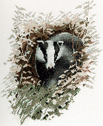 Cross stitch badger