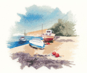 Fishing Boats Counted Cross Stitch by John Clayton