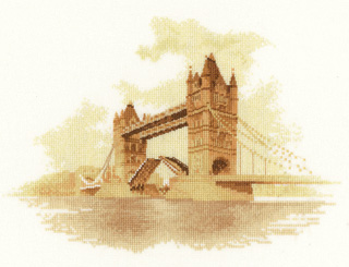 Tower Bridge Counted Cross Stitch by John Clayton