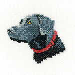 Cross stitch black labrador dog