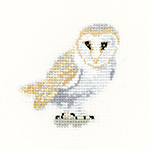 Cross stitch barn owl