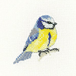 Cross stitch blue tit