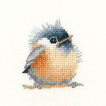 Cross stitch chickadee