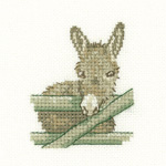 Cross stitch donkey