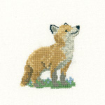 Cross stitch fox cub