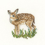 Cross stitch fawn