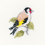 Cross stitch goldfinch