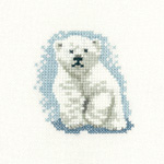 Cross stitch polar bear cub