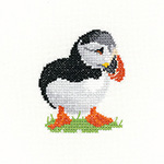Cross stitch puffin