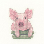 Cross stitch pig