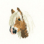 Cross stitch Palomino Pony