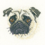 Cross stitch pug