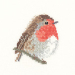 Cross stitch robin