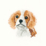 Cross stitch Spaniel puppy