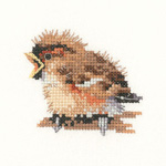 Cross stitch sparrow