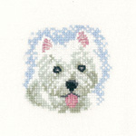 Cross stitch Westie puppy