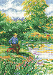 Cross stitch fishing