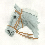 Cross stitch grey pony