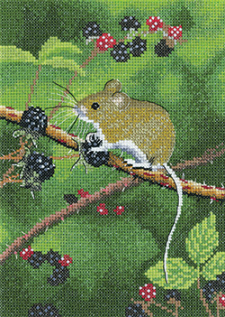 Cross stitch Wood Mouse